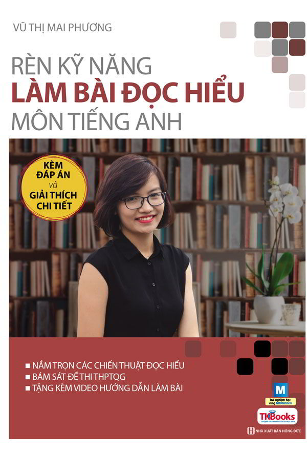 Tải sách: Rèn luyện kỹ năng làm bài đọc hiểu môn Tiếng Anh – Cô Mai Phương