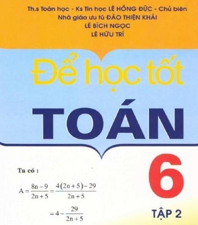 Tải sách: Để Học Tốt Toán Học 6 Tập 2