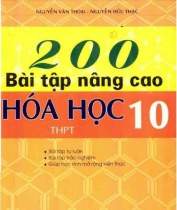 Tải sách: 200 Bài Tập Nâng Cao Hóa Học 10