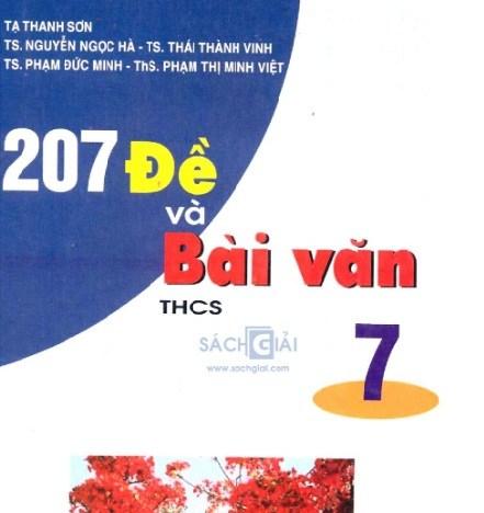 Tải sách: 207 Đề Và Bài Văn THCS 7