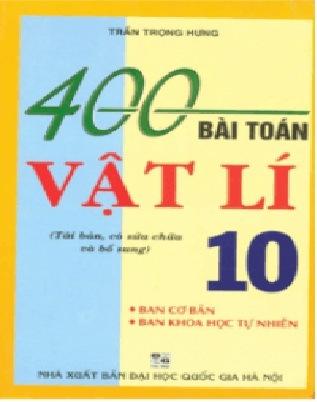 Tải sách: 400 Bài Tập Vật Lý 10