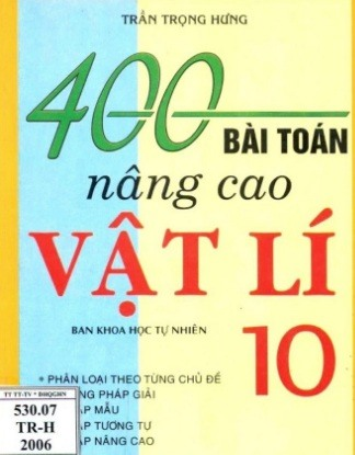 Tải sách: 400 Bài Toán Nâng Cao Vật Lý 10