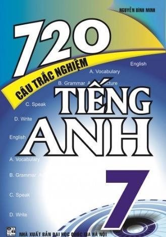 Tải sách: 720 Câu Trắc Nghiệm Tiếng Anh 7