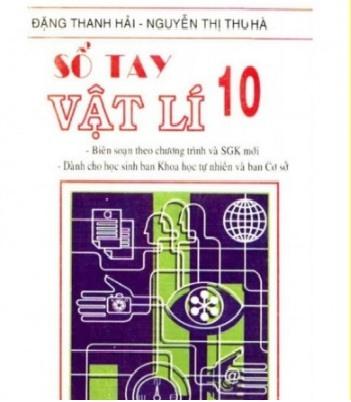Tải sách: Sổ Tay Vật Lý 10