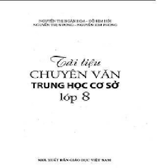 Tải sách: Tài Liệu Chuyên Văn THCS Lớp 8