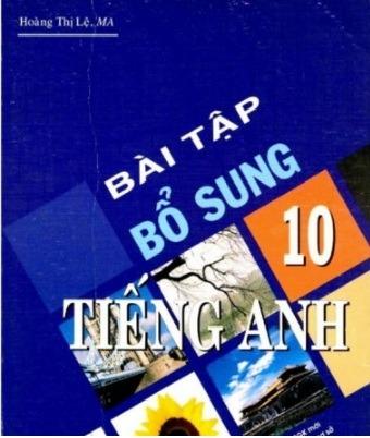 Tải sách: Bài Tập Bổ Sung Tiếng Anh 10