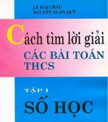 Tải sách: Cách Tìm Lời Giải Các Bài Toán THCS Trọn Bộ Tập 1,2,3
