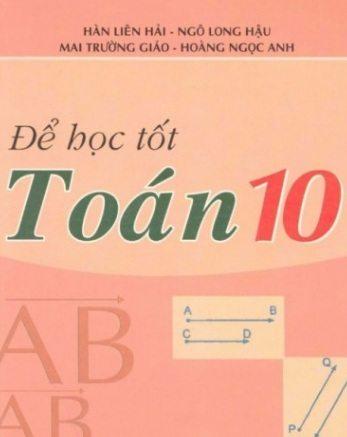 Tải sách: Để Học Tốt Toán 10