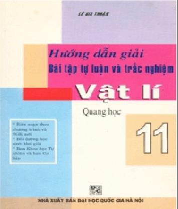 Tải sách: Hướng Dẫn Giải Bài Tập Tự Luận Và Trắc Nghiệm Vật Lý 11
