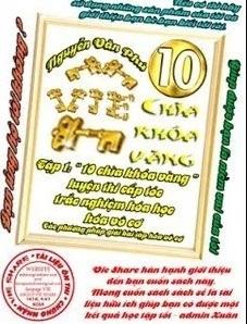 Tải sách: 10 Chìa Khóa Vàng Luyện Thi Cấp Tốc Trắc Nghiệm Hóa Học Hóa Vô Cơ Tập 1,Tập 2,Tập 3