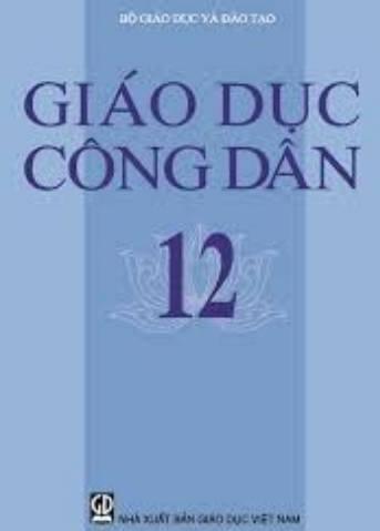 Tải sách: Sách Giáo Khoa Giáo Dục Công Dân Lớp 12