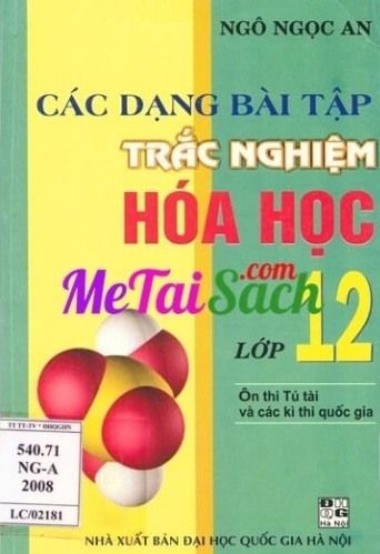 Tải sách: Các Dạng Bài Tập Trắc Nghiệm Hóa Học Lớp 12