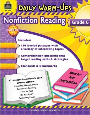 Tải sách: Daily Warm-Ups Nonfiction Reading Grade 6