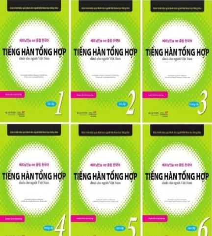 Tải sách: Trọn Bộ Giáo Trình Tiếng Hàn Tổng Hợp 1,2,3,4,5,6