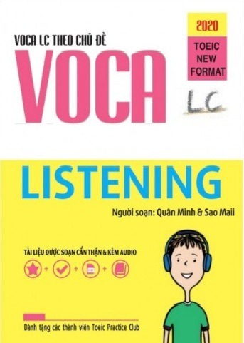 Tải sách: Voca Toeic listening Từ Vững Theo Chủ Đề Format 2020 ( Ebook+ Audio)