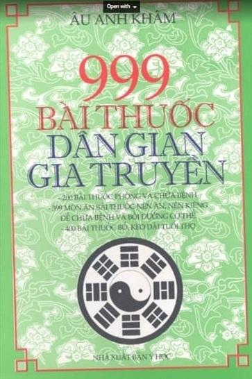 Tải sách: 999 Bài Thuốc Dân Gian Gia Truyền