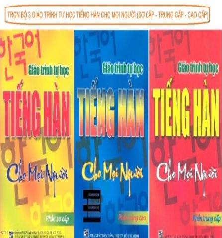 Tải sách: Trọn Bộ 3 Giáo Trình Tự Học Tiếng Hàn Cho Mọi Người