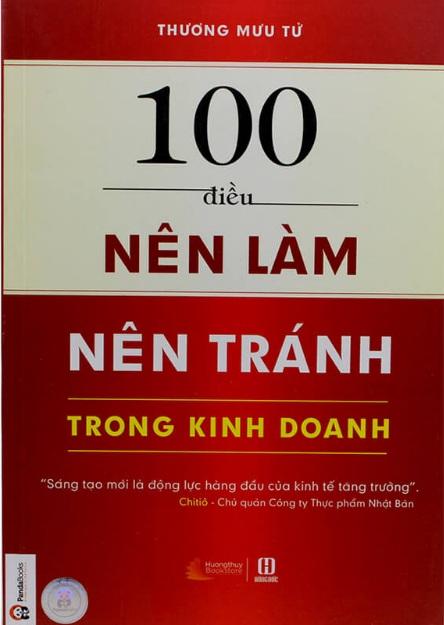 Tải sách: 100 Điều Nên Làm, Nên Tránh Trong Kinh Doanh