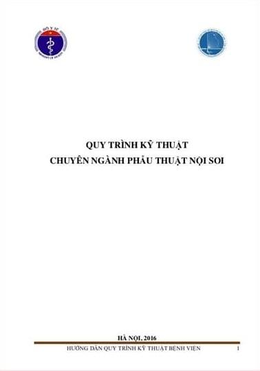 Tải sách: Quy Trình Kỹ Thuật Chuyên Ngành Phẫu Thuật Nội Soi