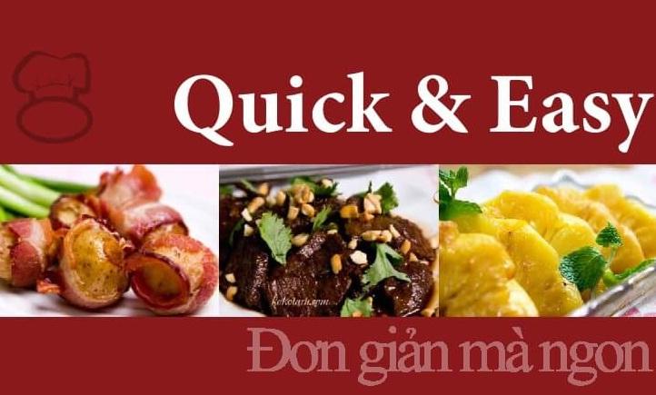 Tải sách: Sách Hướng Dẫn Nấu Ăn Quick&Easy – Đơn Giản Mà Ngon
