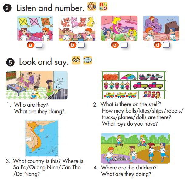 Tải sách: Giải chi tiết bài tập sách giáo khoa tiếng Anh lớp 3 review 4