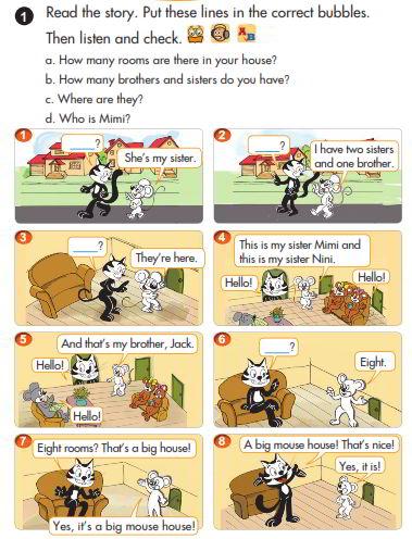 Tải sách: Giải chi tiết bài tập sách giáo khoa tiếng Anh lớp 3 tập 2 Short story