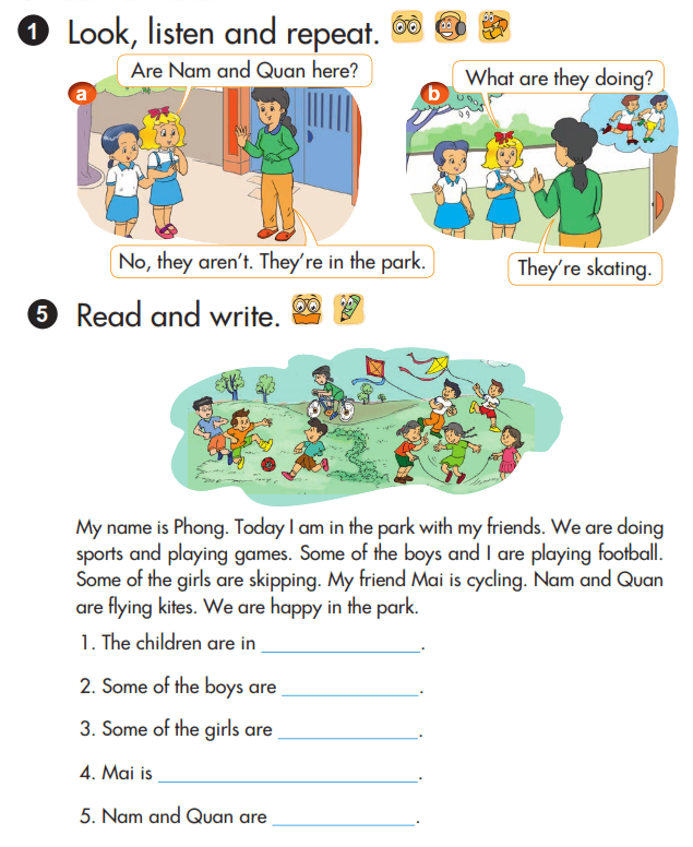 Tải sách: Giải chi tiết bài tập sách giáo khoa tiếng Anh lớp 3 unit 19