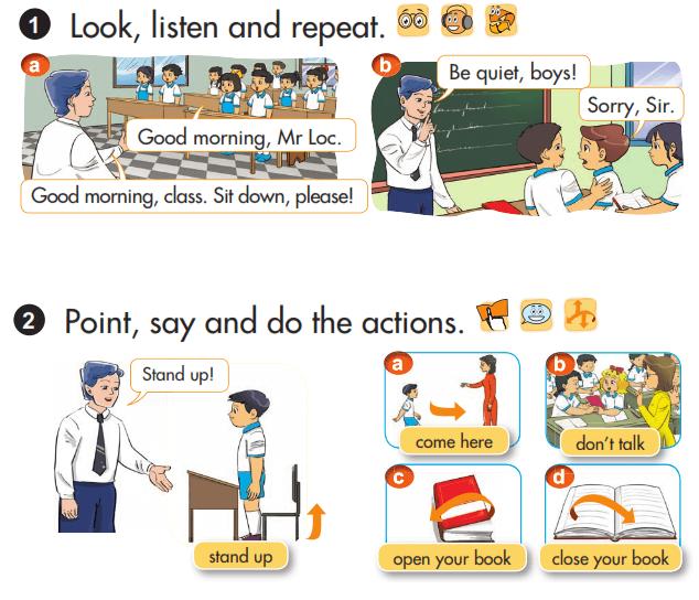 Tải sách: Giải chi tiết bài tập sách giáo khoa tiếng Anh lớp 3 unit 6