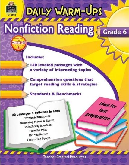 Tải sách: Daily Warm-Ups Nonfiction Reading Grade 6 (Bản PDF Đẹp Nhất)