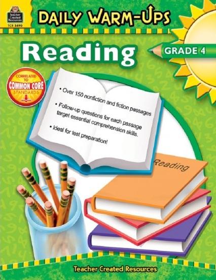 Tải sách: Daily Warm-Ups Reading Grade 4 Bản PDF Đẹp