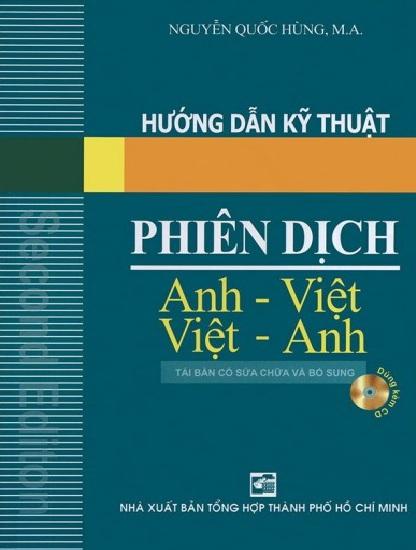 Tải sách: Hướng Dẫn Kỹ Thuật Phiên Dịch Anh – Việt Việt -Anh (Bản Đẹp)