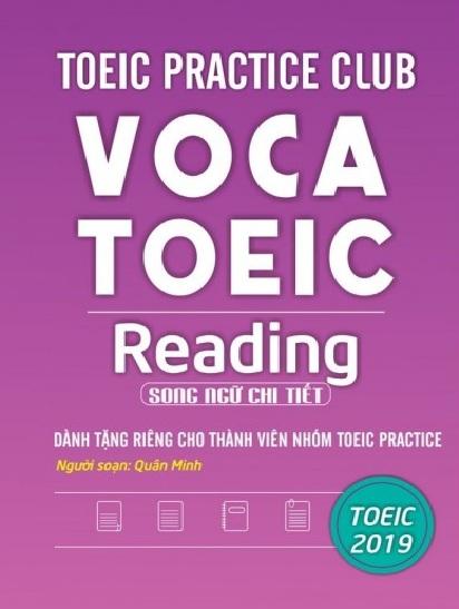 Tải sách: Toeic Practice Club Voca Toeic Reading (Tuyển Tập Toeic Part 5,6,7 Siêu Kinh Điển)