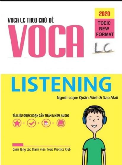 Tải sách: Voca Toeic Listening Từ Vựng Theo Chủ Đề Format 2020 (Ebook+Audio) Bản Đẹp