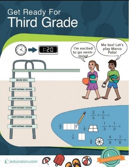 Tải sách: Get Ready For Third Grade (Tiếng Anh Cho Các Em Lớp 3) Bản Đẹp